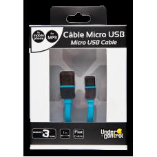CABO MICRO USB FINO AZUL