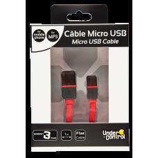 CABO MICRO USB FINO VERMELHO