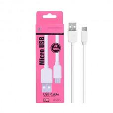 Cabo de Dados Micro USB AS115 -RJ Branco