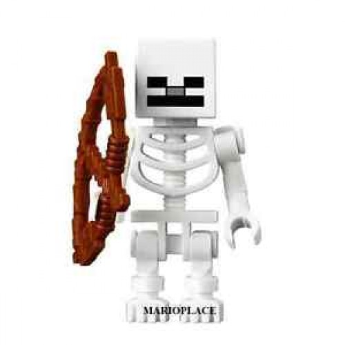 boneco minecraft esqueleto novo
