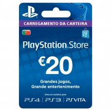 PSN CARTAO PLAYSTATION NETWORK 20 EUROS