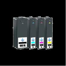 Conjunto 4 Tinteiros Compatíveis Lexmark ref. 100/105/108 XL