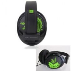 HEADPHONE HALFMMAN URBAN SOUND – BLACK/GREEN – NEW