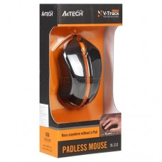 RATO A4TECH – V-TRACK – MINI – BLACK+ORANGE – MODELO N-310 - NOVO