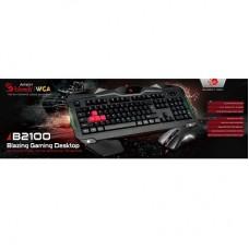 TECLADO + RATO GAMING BLOODY B2100 (B210+V9C) USB – BLACK - NOVO