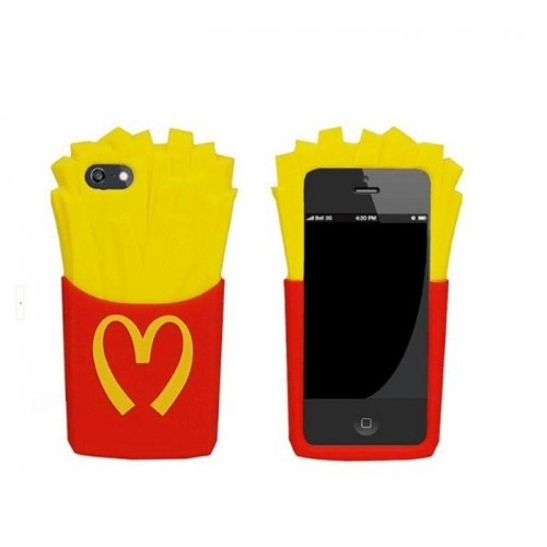 CAPA SILICONE BATATAS FRITAS MC IPHONE 4/4S
