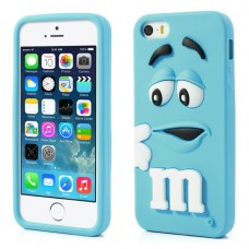 CAPA DE SILICONE M&M'S IPHONE 5/5S - NOVO