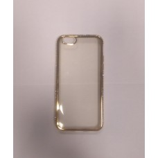 CAPA RIGIDA IPHONE 6 PLUS TRANSPARENTE E DOURADA