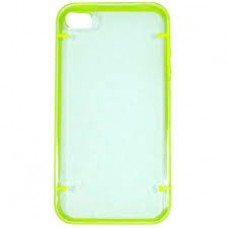 CAPA RIGIDA VERDE E TRANSPARENTE IPHONE 5/5S