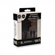 CARREGADOR UNIVERSAL MICRO/MINI USB PRETO