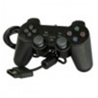 COMANDO DUAL SHOCK 2 PS2  PRETO COMPATIVEL