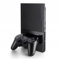 CONSOLA PLAYSTATION 2 SLIM 75004 BLACK - INCLUI BOOT DVD - USADA