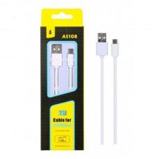 CABO MICRO USB 2M AS108 BRANCO ONEPLUS