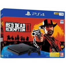 CONSOLA PS4 SLIM 1TB PRETA+RED DEAD REDEMPTION II