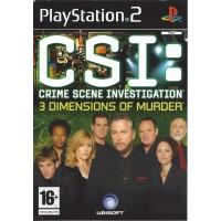 PS2 CSI: CRIME SCENE INVESTIGATION 3 DIMENSIONS OF MURDER - USADO