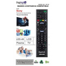 COMANDO TV UNIVERSAL SONY SO-33 DIGIVOLT
