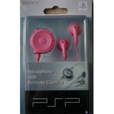 PSP Headphones with Remote Control - Rosa