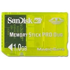 MEMORY STICK PRO DUO SANDISK 1.0 GB-USADO