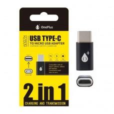 ADAPTADOR 2 EM 1 USB TIPO-C PARA MICRO USB R2809 ONEPLUS