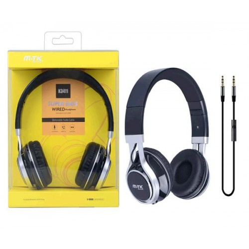 SUPERBASS WIRED HEADPHONES COM MICROFONE K3411 PRETO MTK