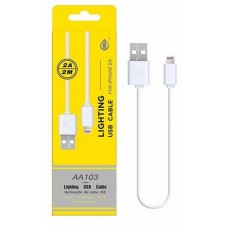 CABO DE DADOS IPHONE 5/5S/6/6S/7/8/X  2M 2A AA103 BRANCO ONEPLUS