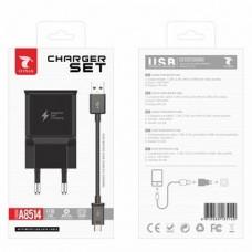CARREGADOR COM MICRO USB PRETO A8514 LT PLUS