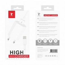 CARREGADOR IPHONE LIGHTNING USB 1A  A8505 BRANCO LT PLUS