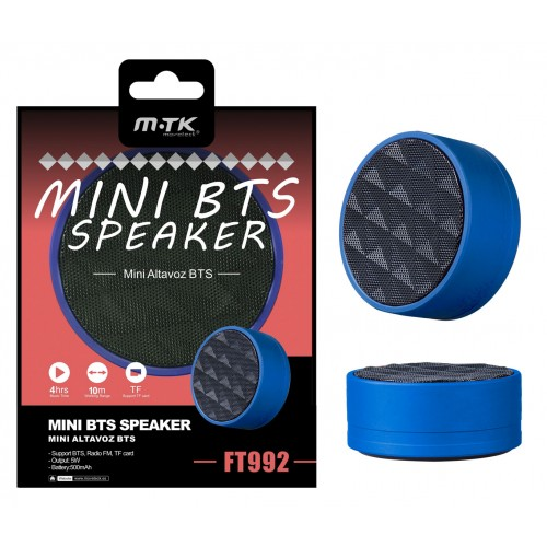 MINI BTS SPEAKERS ALTAVOZ FT992 AZUL MTK