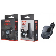 FM TRANSMITTER + CAR CHARGER 2IN1 MTK