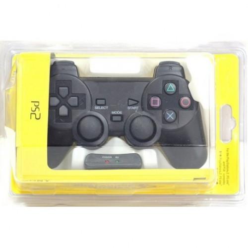 PS2 COMANDO DUALSHOCK 2 WIRELESS PRETO COMPATÍVEL (NAO OFICIAL)
