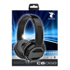 LT PLUS C6068 WIRED GAMING HEADPHONES WITH MIC, BLACK