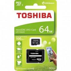 CARTÃO MEMORIA 64GB MICROSDHC M203 TOSHIBA