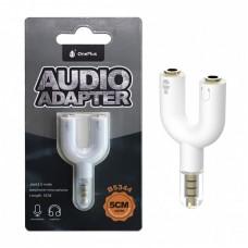 AUDIO ADAPTER JACK 3.5 5CM EARPHONE + MICROFONE B5344 BRANCO ONEPLUS