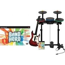 PS3 BAND HERO & BAND KIT  ( GUITARRA + BATERIA + MICRO ) - USADO