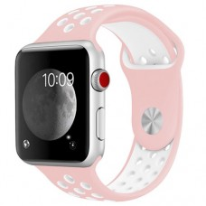 BRACELETE DESPORTIVA PARA APPLE WATCH 38/40 MM ROSA/BRANCO COMPATÍVEL