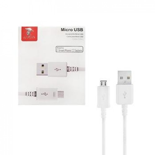 CABO MICRO USB 1.2M BRANCO LT PLUS