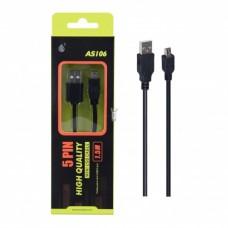 CABO MINI USB AS106 PRETO 1.5M ONEPLUS