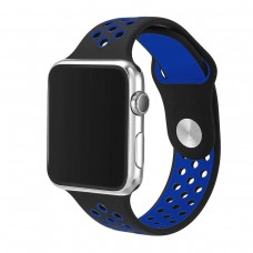 BRACELETE DESPORTIVA PARA APPLE WATCH 42/44 MM  PRETO/AZUL COMPATÍVEL