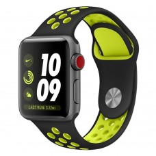 BRACELETE DESPORTIVA PARA APPLE WATCH 38/40 MM PRETO/VOLT COMPATÍVEL