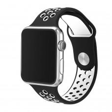 BRACELETE DESPORTIVA PARA APPLE WATCH 38/40 MM PRETO/CINZA COMPATÍVEL