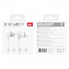 HEADSET 3D STEREO IN-EAR HEADPHONES C6003 BRANCO LT PLUS