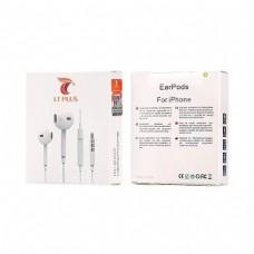 AURICULARES EARPODS COM CONTROLO REMOTO E MICROFONE I6E02 BRANCO LT PLUS