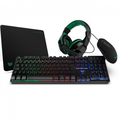 PACK GAMING SETUP X-4 : RATO+TECLADO +TAPETE+ HEADSET BG