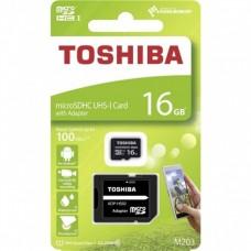 CARTÃO MEMORIA 16GB MICROSDHC M203 TOSHIBA