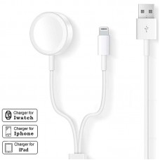 2 IN 1 CHARGING CABLE FOR IPHONE / IWATCH 4FT