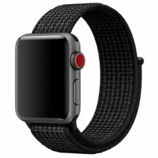 BRACELETE LOOP DESPORTIVA APPLE WATCH 40MM 42MM PRETA COMPATIVEL