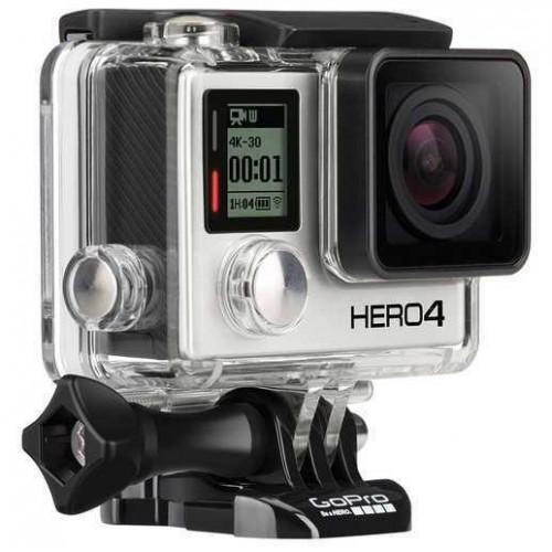 GOPRO HD HERO 4 BLACK EDITON - USADA ( INCLUI CARREGADOR DE BATERIAS EXTRA CAIXA DE ESTANQUE E SEFIE STICK )