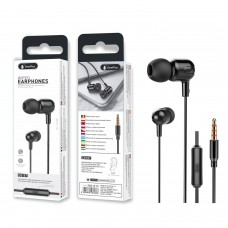 WIRED EARPHONES WITH MICROPHONE FOR IOS AND ANDROID C6187 PRETO ONEPLUS