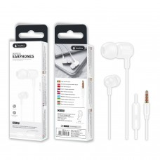 WIRED EARPHONES WITH MICROPHONE FOR IOS AND ANDROID C6187 BRANCO ONEPLUS