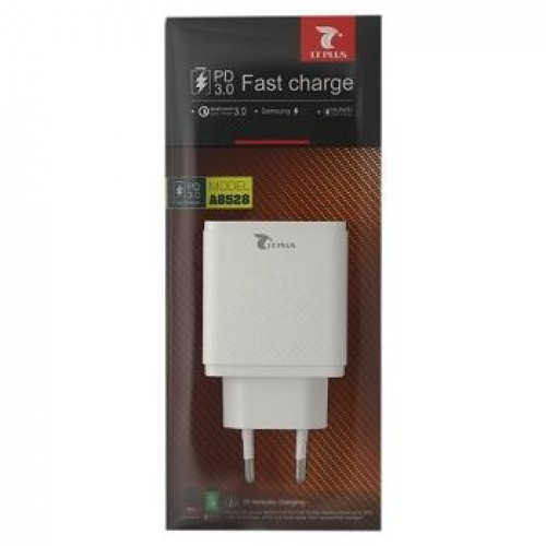 ADAPTADOR DUAL USB FAST CHARGE A8528 WHITE LT PLUS